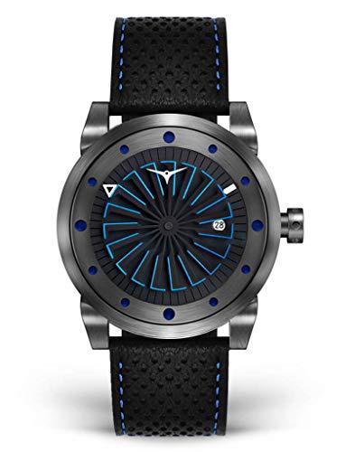 Zinvo Nitro Turbina Automatico Miyota Acciaio Inox IP Grigio Nero Argento Blu Datario Pelle Zaffiro Orologio Uomo