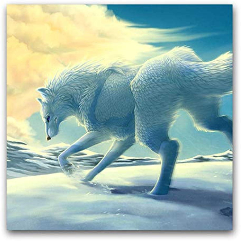 Agolong DIY Farbeings Bilder nach Zahlen mit Farben Legende von Sirius Wolf Lebensmittel-Monatsbild mit Rahmen 40  50cm B07M5THZGC | Preiszugeständnisse