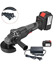 Mainstayae 18V Brushless Angle Grinder Tool 100mm Variable Speed 4.0Ah Lithium-Ion Electric Cordless Grinding Machine Metal Cutter with Side Handle One Battery US Plug