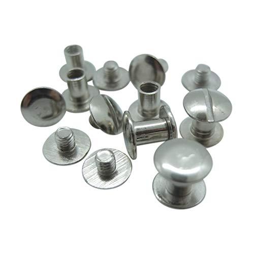 50 Stück - Buchschrauben - 5 mm Höhe (vernickelt, Ø Kopf: 10 mm, Ø Schaft: 5 mm)