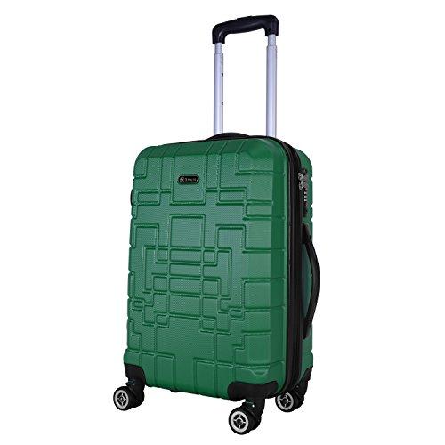 SHAIK Serie XANO Maleta de cabina - TSA candado 45 Capacidad De Litros Cubierta Dura Y Flexible...