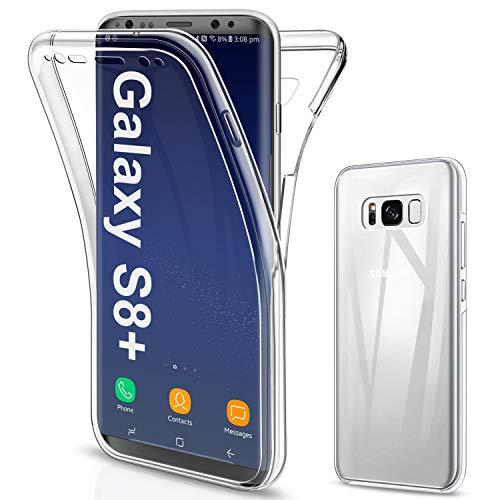 SOGUDE für Samsung Galaxy S8 Plus Hülle, Schutzhülle 360 Grad Full Body Front Und Rückenschutz Handyhülle Transparent Silikon Schutzhülle TPU Bumper für Samsung Galaxy S8 Plus