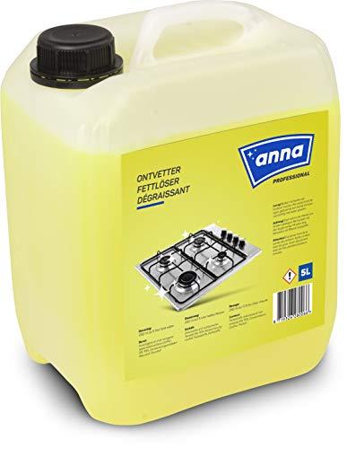 ANNA Professional Fettlöser Küche, Fettlöser für Grill Backofen Herd, Profi-Qualität für Gastronomie und Hausgebrauch, entfettet stark verschmutzte Oberflächen, Entfetter 5l