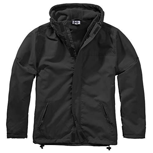 BWuM Windbreaker MIT Zipper Regenjacke NÄSSESCHUTZ Windjacke GEFÜTTERT Jacke RV, Größe:XL, Farbe:schwarz