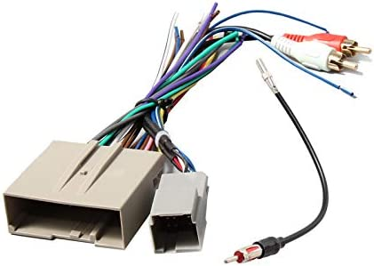 RED WOLF Aftermarket Stereo Install Wiring Harness with RCA Adapter Radio Antenna Adapter Plug product image