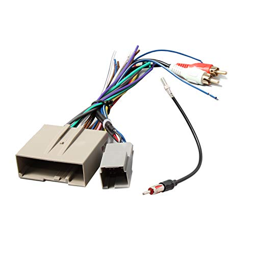RED WOLF Aftermarket Stereo Install Wiring Harness with RCA Adapter, Radio Antenna Adapter Plug for Some Ford 2006-2012, Lincoln 2006-2010, Mercury 2006-2009 Vehicles