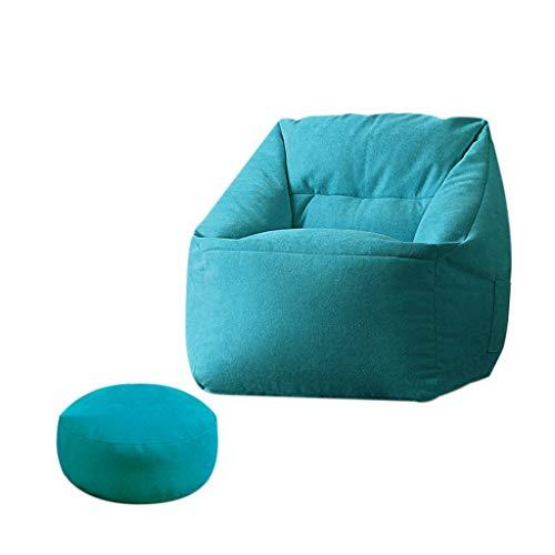 Sac De Haricots/Grande Fauteuil/Fauteuil/canapé/Confortable/avec Repose-Pied/Convient pour Intérieur Et Extérieur/Sige/65 * 65 * 65cm