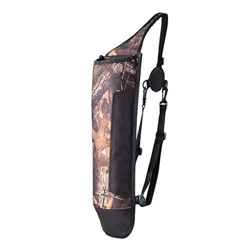 Inzopo Bolsa de ombro ultraleve com flecha traseira aljava caça tiro com arco e flecha, suporte para cinto de ombro, comporta 40 peças de flechas