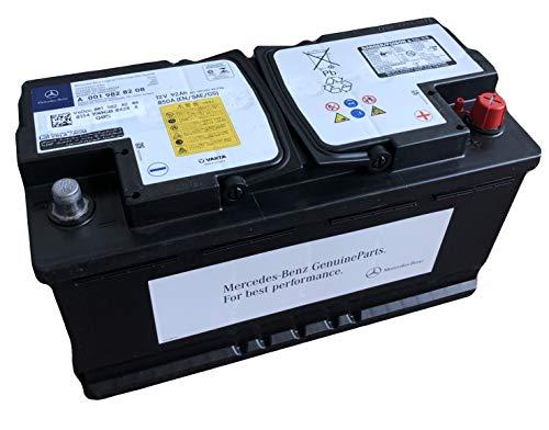 Mercedes Benz A0019828208 Autobatterie 92aH 12V 850A AGM auslaufsicher I Ersatz für 95aH Autobatterien