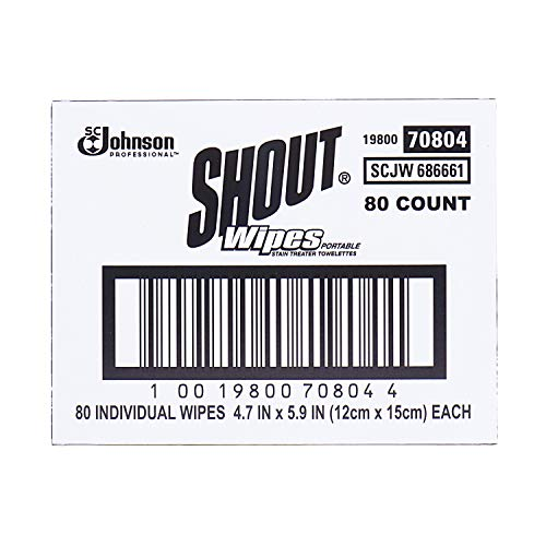 Shout Professional Instant Stain Remover Towelette Wipes (80 Count)
