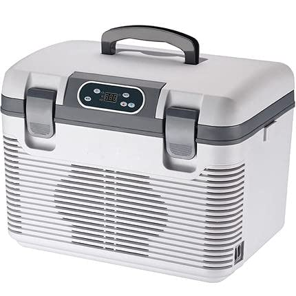 outingStarcase Refrigerador de coches 19L DC12-24V / AC220V Freeze Calefacción Refrigerador Cabeza de compresor Cabeza de picnic Refrigeración -5~65 grados