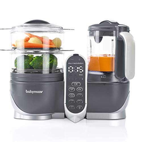 Duo Meal Station Food Maker 6 in 1 Food Processor with Steam Cooker, Multi-Speed Blender, Baby Purees, Warmer, Defroster, Sterilizer (Nutritionist Approved)