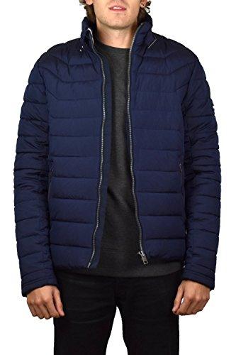 Tommy Jeans Herren PADDED MOTOR jacket Lang - Regulär wattierte Jacke Jacke Blau (Black Iris 002) X-Small