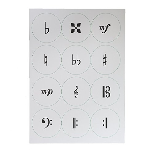 くるみボタン製作用生地 音楽記号