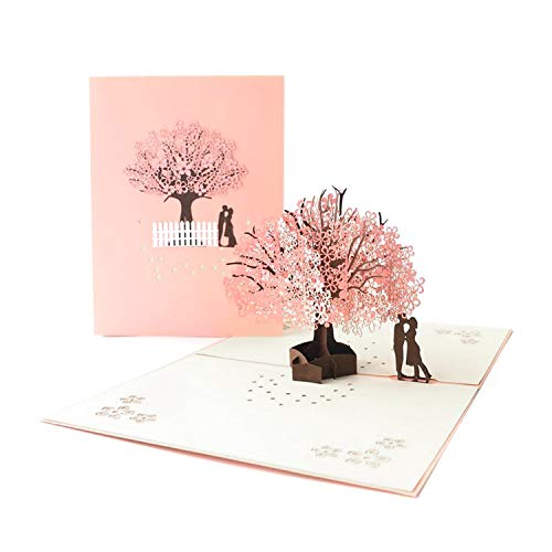 Pop up Card 3D Card Wedding Cards Anniversary Card Valentine's Day Gift Card Engagement Card Mother's Day Card Romantic Card Girlfriend Boyfriend Birthday Card Graduation Card Greetings Cards