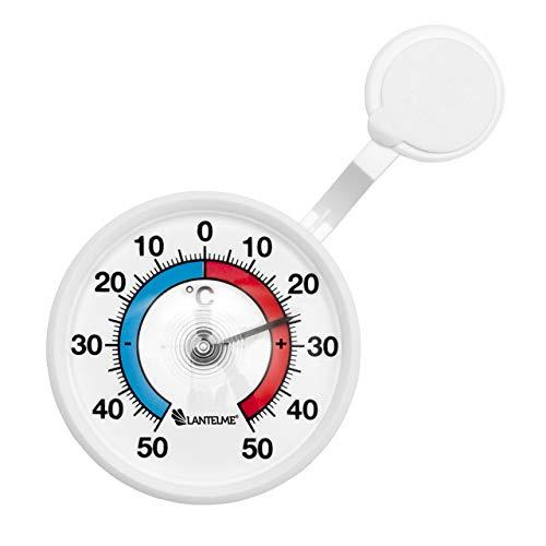 Lantelme Fenster Thermometer selbsklebend aus Deutscher Herstellung Außen analog Fensterthermometer + - 50 °C 4082