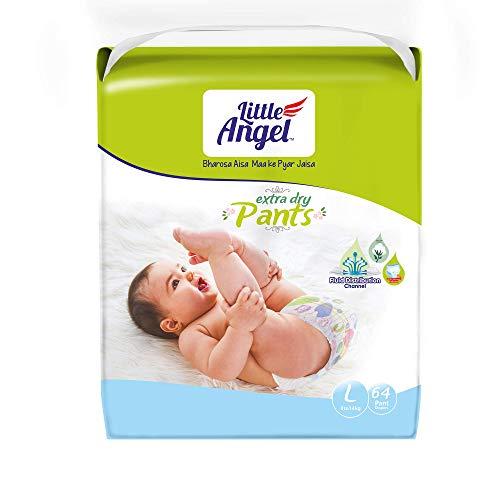 Little Angel Baby Diaper Pants, Large (8 - 14 kg), 64 Count