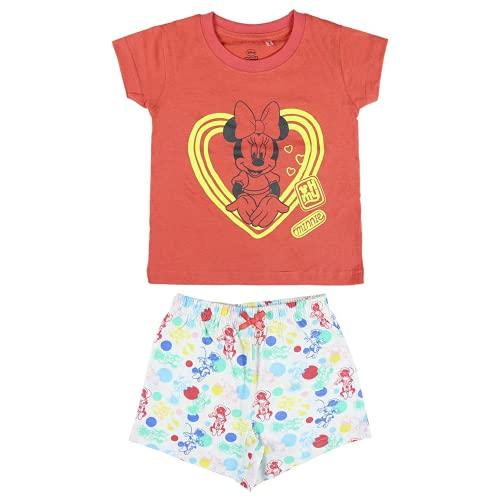 Cerdá Pijama Que Alumbran en la Oscuridad Niña de Minnie Mouse-Camiseta +...