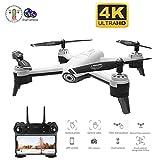 Mini Drone WiFi FPV Rc Drone 4k Caméra, Flux Optique 1080p HD Double Caméra Vidéo Aérienne Rc Quadcopter Avion Drone Enfants, Suivi Intelligent, Lumière LED, Mode sans Tête, Mode Maintien D'altitude