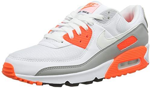 Nike AIR MAX 90, Scarpe da corsa Uomo, white/white-hyper orange-lt smoke grey