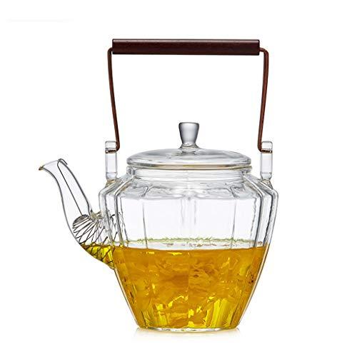 Boloi Tetera de Cristal del hogar de Alta Temperatura de ebullición de la Tetera Espesado Filtro de té de la Flor de la Burbuja Tetera de Cobre manija Portable Pot (tamaño : A)