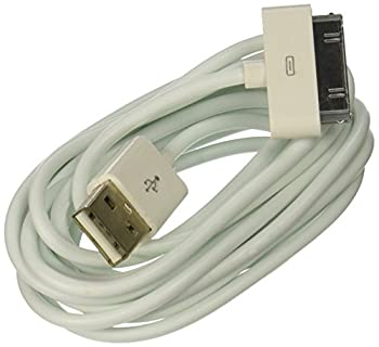 USB Data Sync Cable For iPod iPhone 2G 3G 3GS iPhone 4 iPod Touch 2nd 3rd 4th Generation iPod Nano 4th 5th 6th Gen All iPhone iPod Models Compatible White  6 Feet