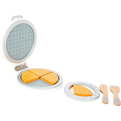 """small foot 10592 Waffeleisen \""""Kinderküche\"""" aus Holz, zum Aufklappen mit Platz für vier Waffelstücke, ab 3 Jahren"""