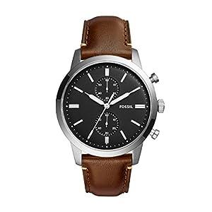 Fossil – Reloj cronógrafo de cuarzo para hombre con correa de piel
