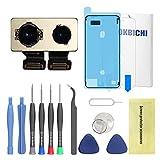 OKBICHI Cámara Trasera para iPhone 8 Plus (Todos los portadores) Módulo de cámara Trasera Flex Cable de Repuesto - Herramientas de reparación con Protector de Pantalla y Sello Impermeable