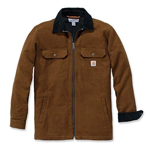 Carhartt Pawnee Zip Shirt Jac abrigo, Nuez Oiled, XXL para Hombre