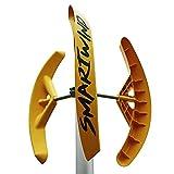 MAKEMU Energy Aerogenerador eolico Vertical casa Jardin terraza Darrieus Savonius Smart Wind 300/400 / 500 W generador casero Molino de Viento 500W