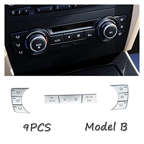 HAIHUIYUAN Wwang Store Cromo Abdominales Adecuado BMW Serie E90 E91 320 328 ETC 2005-2012 Aire Acondicionado C.A. Botones de interruptores Cubierta de la Etiqueta de la Etiqueta del Recorte