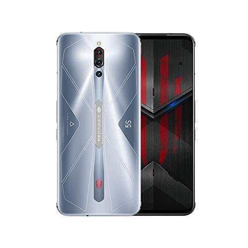 nubia RedMagic 5Sゲーミングスマホ8GB RAM + 128GB ROM/スマートフォン、Qualcomm Snapdragon 865 / 144Hz:リフレッシュレート6.65インチAMOLEDディスプレイ/ 64MPトリプルカメラ China Ver.(銀)