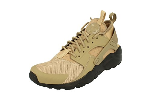 Nike Air Huarache Run Ultra GS Running Trainers 847569 Sneakers Schuhe (UK 5.5 Us 6Y EU 38.5, Mushroom Khaki Black 201)