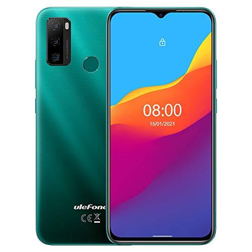 Android 11 Smartphone Offerta,Ulefone NOTE 10 Cellulare, DUAL SIM+SD Dedicata, Batteria 5500 mAh (OTG Reverse Charge), ROM 32GB, Schermo Waterdrop da 6,52'', Impronta Digitale+Face ID GPS Verde