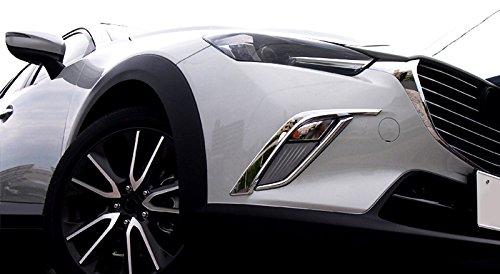 Exterieur Nebelscheinwerfer Dekor Chrom ABS Kunststoff 4 Stück für CX-3 CX3 2015-2018