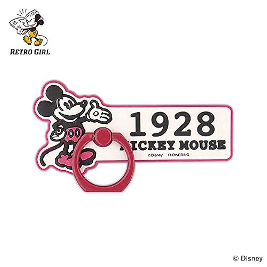 顔料高速道路まで【フラワーリング】FLOWERING スマートフォンリング(ディズニー)(ラバータイプ) ミッキーマウス DS-S0004-PK(ピンク) [各種スマートフォン用]