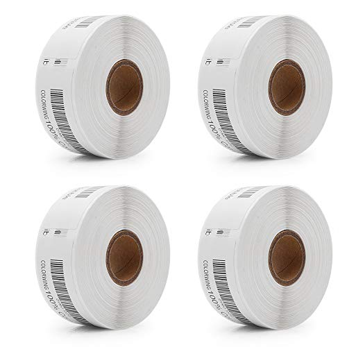 """COLORWING Compatible Labels Replacement for 30252 Dymo Labels 1 1/8"""" x 3 1/2"""" (28 x 89 mm), 350 Labels per Roll, White, 4 Roll Address Labels for Dymo LabelWriter 450 400 450 Turbo"""