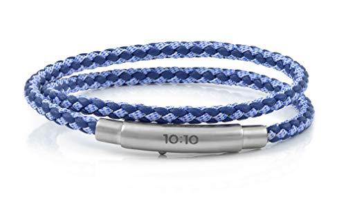 10:10 Pulsera de doble bucle serie OCEAN, fabricado en piel y tela de 4 mm de diámetro, cierre ajustable de acero inoxidable. Producido en Italia ……