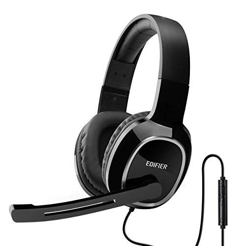 Edifier K815 Binaural Kopfband Schwarz Headset - Headsets (PC/Gaming, Binaural, Kopfband, Schwarz, Verkabelt, 2 m)