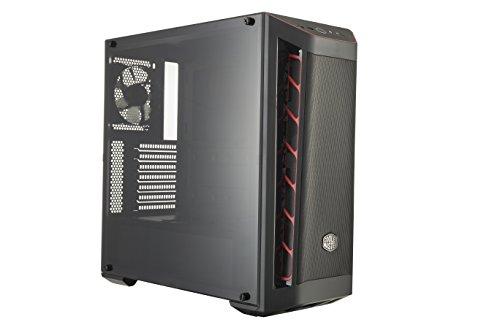 Gabinete Cooler Master MasterBox MB511 Vermelho, ATX, Lateral em Acrílico Transparente, PSU Cover, Frontal em Tela