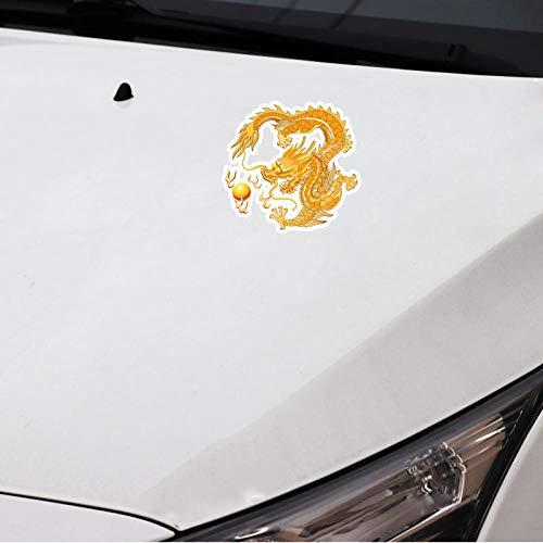 CSCH Aufkleber Autoaufkleber 14,7 cm x 15,5 cm Farbiger Winddrache Grafik
