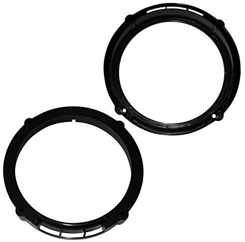 Aerzetix: 2 Adaptadores soportes de Altavoces - 165mm - Puertas Traseras – para Automóvil