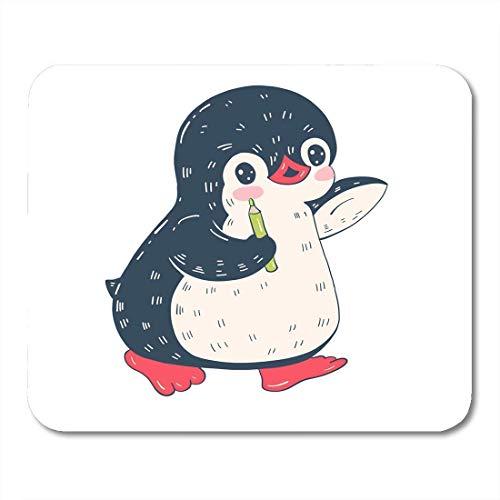Mouse pad abstract lustige cartoon pinguin bleistift entzückende tier antarktis arktis mousepad für notebooks, Desktop-computer maus matten, Büromaterial
