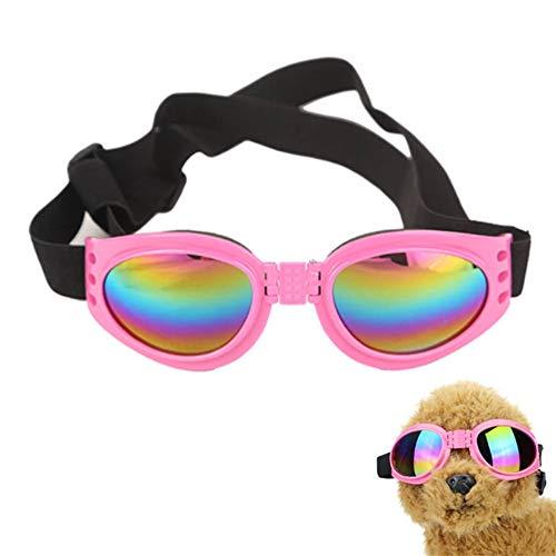 Gafas De Sol Perros Gafas para Gatos para Gafas Perro Gafas Cachorro Gafas de Sol Gafas para Gatos Plegable Perro Gafas de Sol Pink