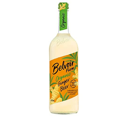 Belvoir - Ginger Beer Bio - Boisson Pétillante au Gingembre Frais Bio - 100% Naturelle - Sans Édulcorants, Conservateurs ni Colorants - Bouteille en Verre 750 ml (Lot of 6)