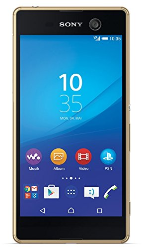 Sony Xperia M5 Smartphone (5,0 Zoll (12,7 cm) Touch-Display, 16 GB Speicher, Android 5.0) gold