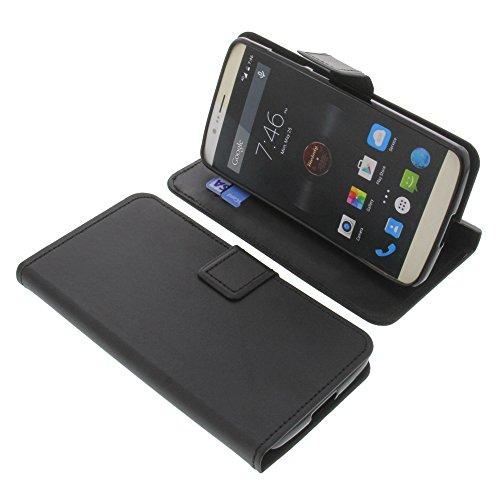 foto-kontor Tasche für Elephone P8000 Book Style schwarz Schutz Hülle Buch
