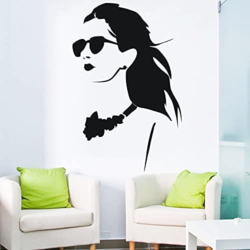 Zdklfm69 Pegatinas de Pared Adhesivos Pared Hermosas Mujeres Vinilo Mural Arte calcomanía Papel Tapiz Las Ventanas y Puertas de la Sala Decoradas 25x40cm