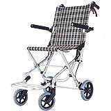 Autopropulsada de la mano de empuje silla de ruedas silla de ruedas plegable de aluminio de aleación ligera y Presidente del marco plegable portátil silla de ruedas Tránsito viaje puede soportar 160kg